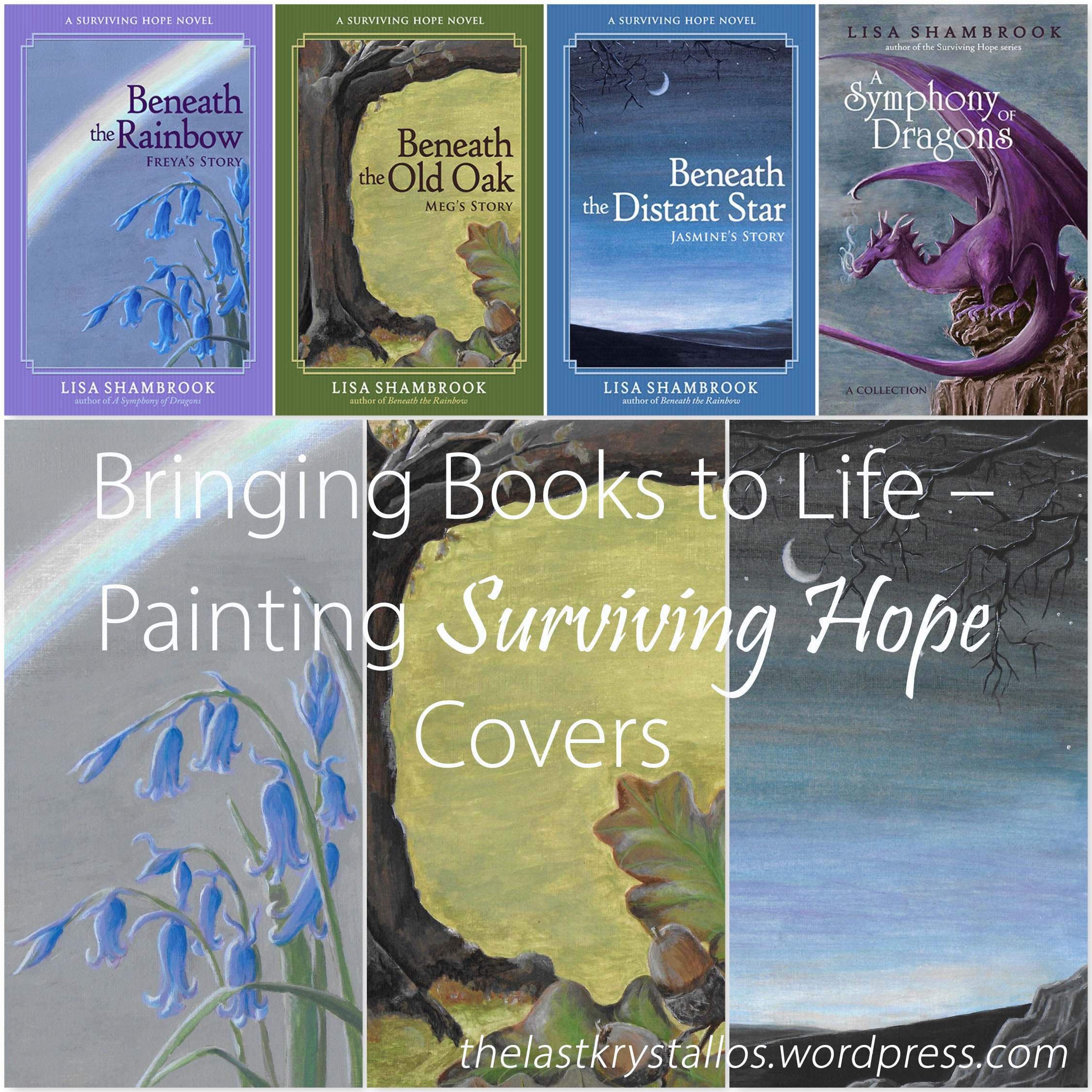 Bringing Books to Life - Painting Surviving Hope Covers - The Last Krystallos