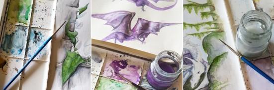 Painting Seren Stone Covers - Lisa Shambrook - The Last Krystallos