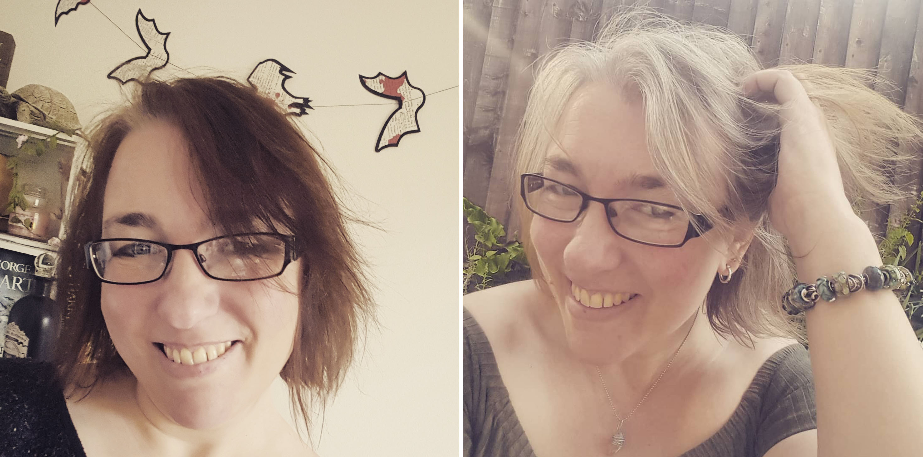 age 45 - 47 from this to this - the process of going grey - The Last Krystallos