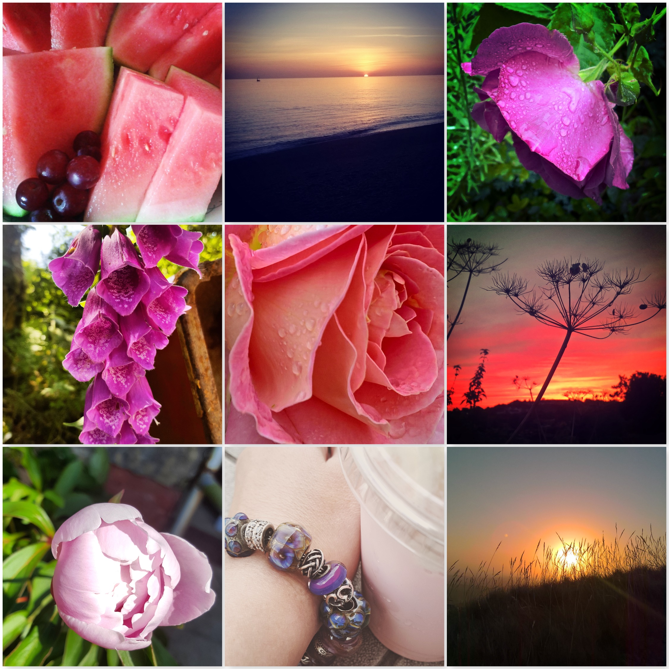 Magical Colours of Summer - pink - rose - sunset - the last krystallos