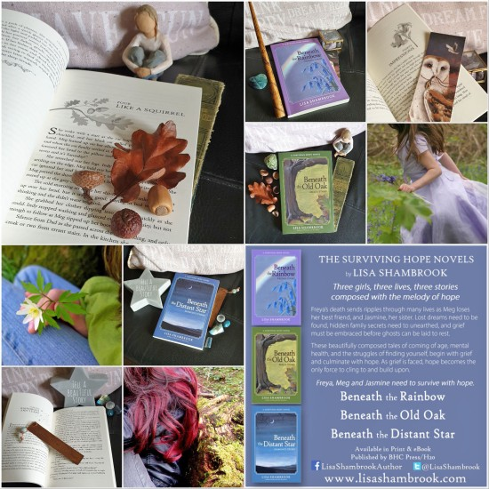 small advertising photos of the Surviving Hope novels by Lisa Shambrook