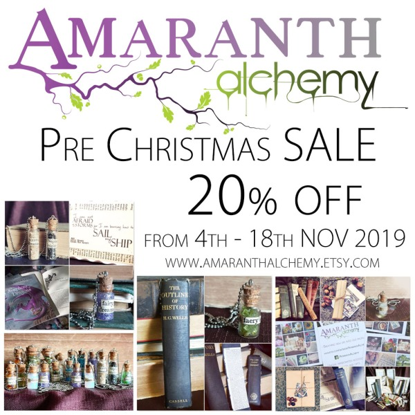 20 off Everything at Amaranth Alchemy on Etsy Christmas 2019