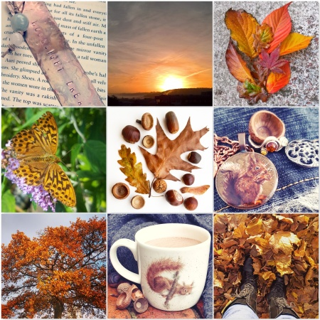 copper photos - copper metal bookmark, sunset, copper red leaves, High Brown Fritillary Butterfly, leaves, squirrel necklace, copper leaves, red squirrel, leaves, for The Last Krystallos blog