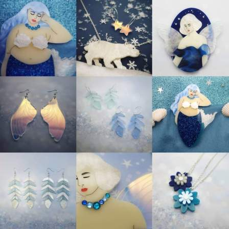 photos of Aureliola's jewellery on Etsy: Mermaid, polar bear, fairy, fairy wings, mermaid, flowers