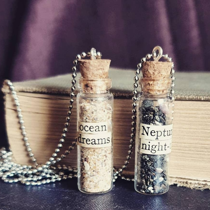 Ocean Dreams and Neptune's Night-tide Potion Bottles by Amaranth Alchemy