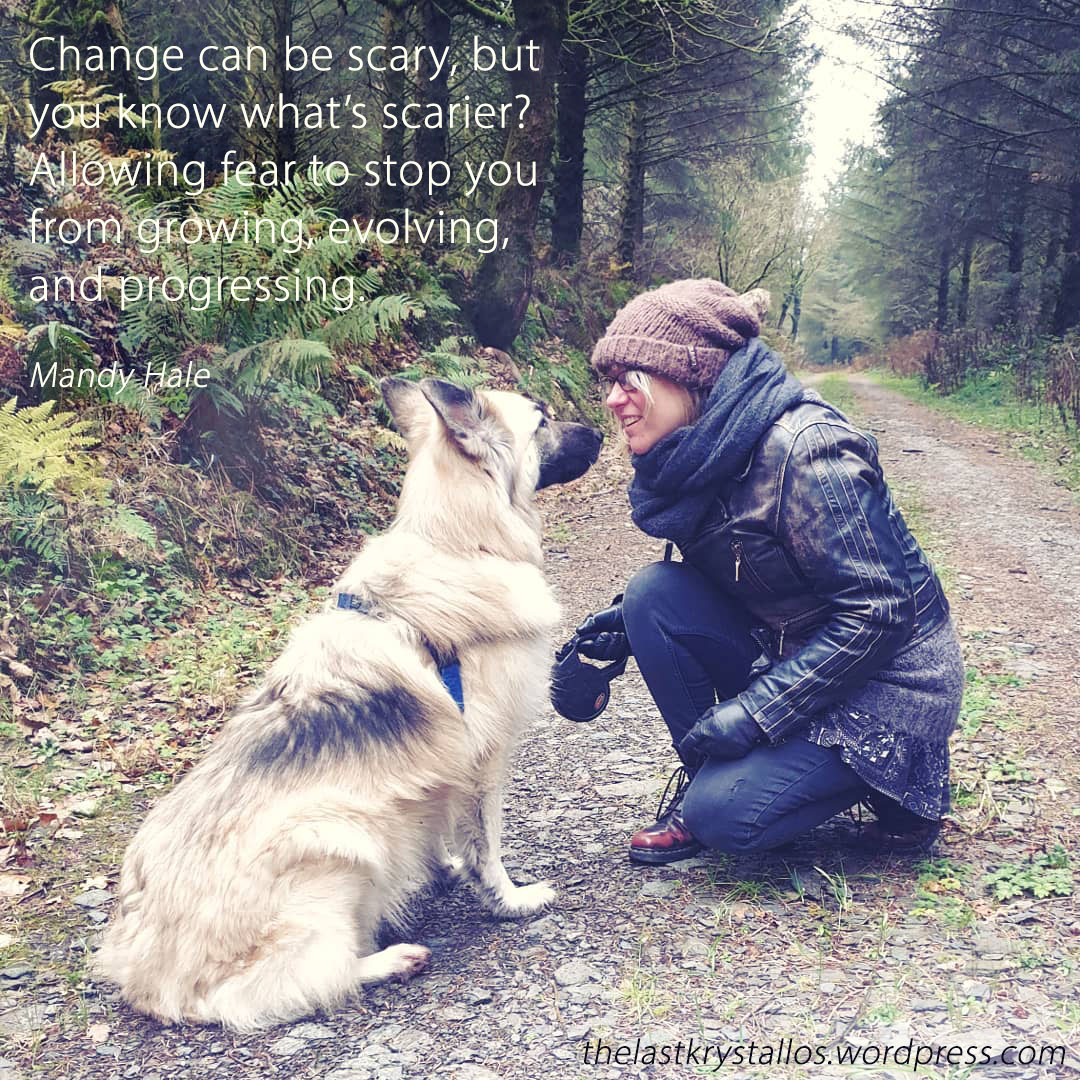 Change can be scary, but you know what's scarier Allowing fear to stop you from growing, evolving, and progressing.