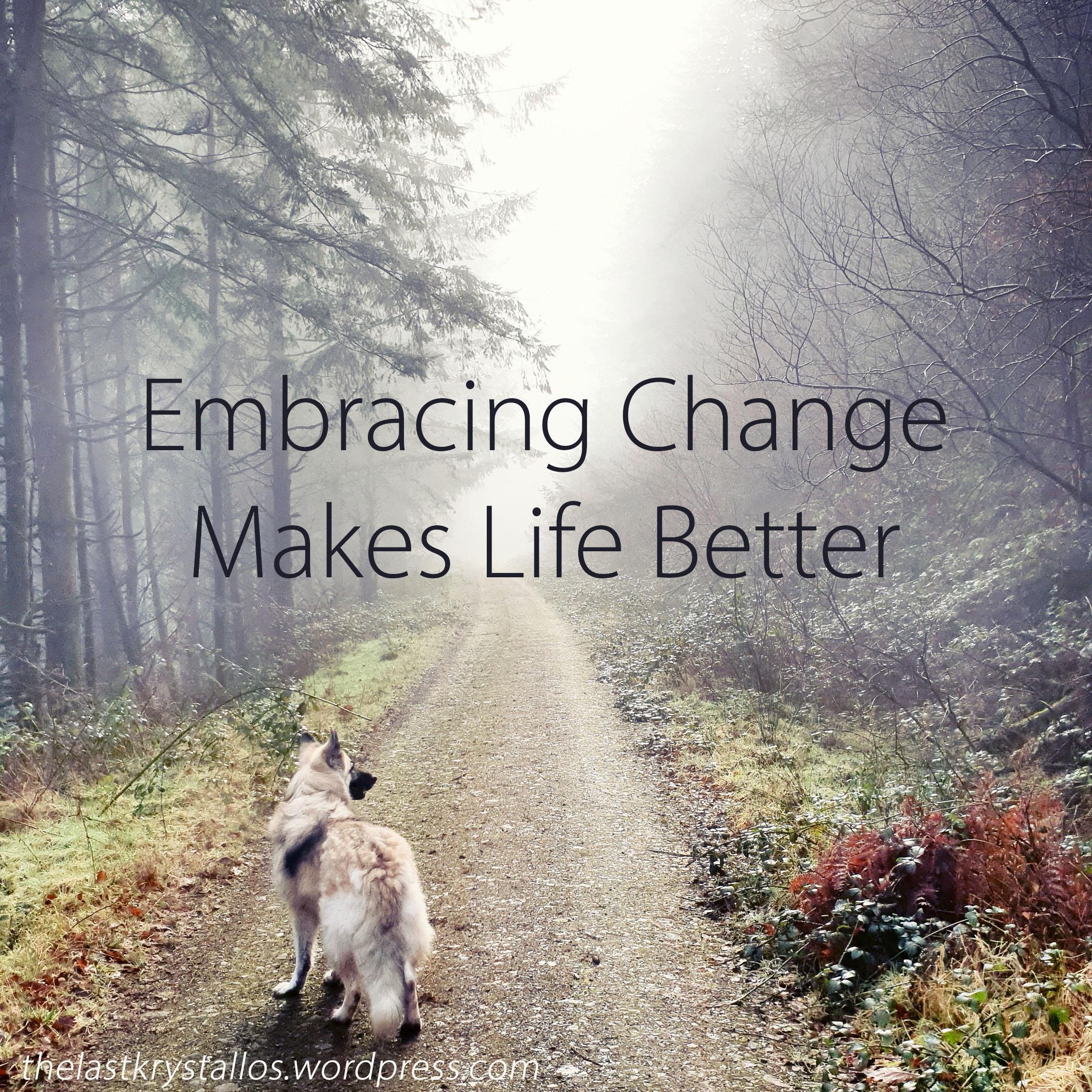 Embracing Change Makes Life Better - The Last Krystallos