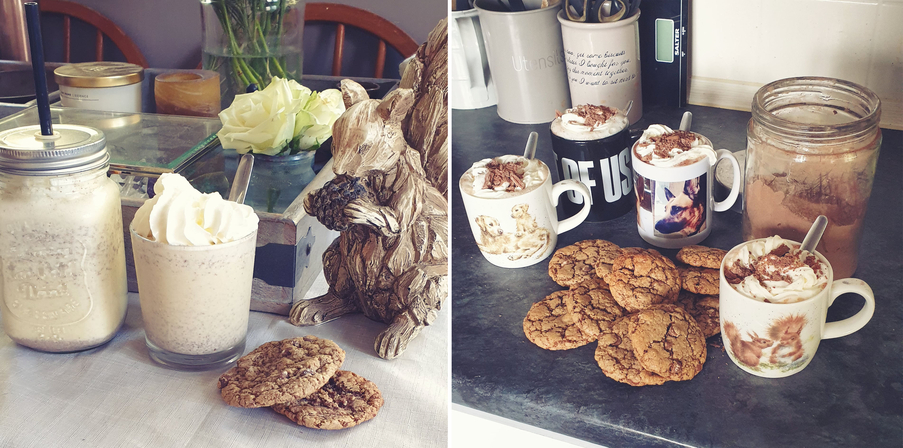 Milkshake, Hot Chocolate and cookies - The Last Krystallos