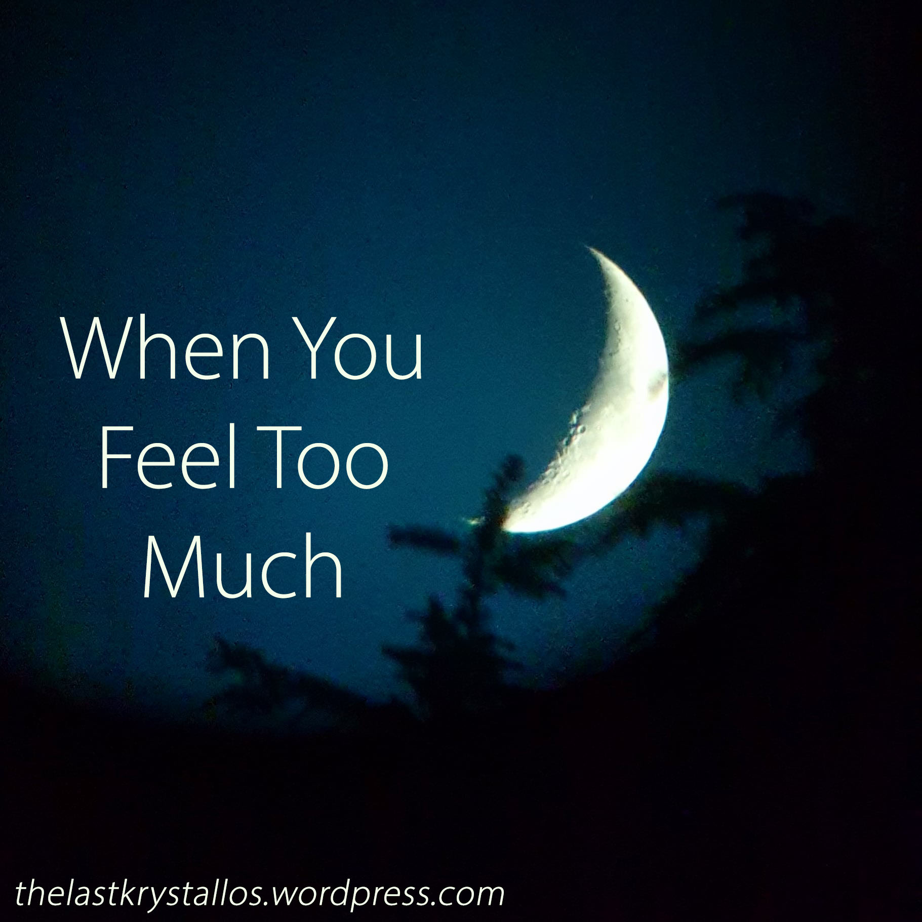 When You Feel Too Much - The Last Krystallos