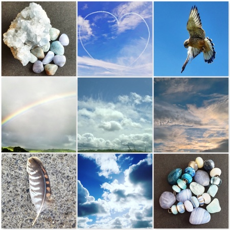 colours, air, crystals, sky, kestrel, rainbow, clouds, feather, crystal bracelet, the last krystallos